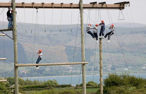 Things to do in County Louth, Ireland - Sky Park - High Ropes Team Building - YourDaysOut - Photo 1
