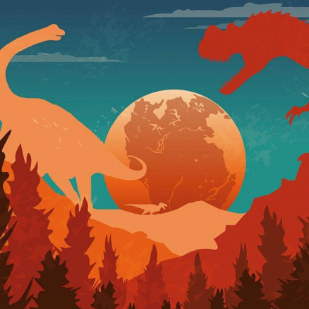 Dinosaurs Around the World logo